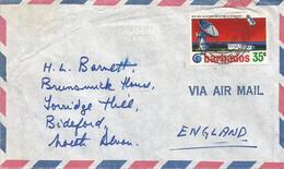 Barbados 1972 Bridgetown Satellite Communication Earth Station INTELSAT IV Cover - Barbades (1966-...)