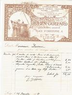 Facture Superbement Illustrée 1904 LIEGE - JULIEN GOFFARD - Dessinateur-graveur - Lithographie - Plume - Crayon - Belgique