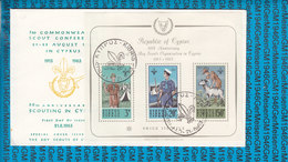 Cyprus FDC Cover 1963 / 50th.anniv.Boy Scouts Organisation In Cyprus Bl.1 - Scouting