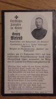 Sterbebild Wk1 Ww1 Bidprentje Avis Décès Deathcard KUK Sanitäter Tiroler Kaiserjäger 1 Italien Italia Aus Hehenwart 1915 - 1914-18