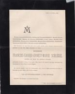 CINEY François-Xavier SCHLOGEL Candidat-notaire 35 Ans 1889 Famille BOSSERET PONTHIERE - Overlijden