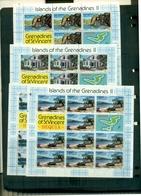 GRENADINES S.VINCENT ILE BEQUIA II 4 MINI-FEUILLES NEUFS A PARTIR DE 1.50 EUROS - St.Vincent & Grenadines