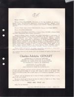 FOSSES IXELLES Charles-Adolphe GENART Conseiller Cour De Cassation Association Anciens élèves De MAREDSOUS 1870-1942 - Overlijden