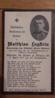 Sterbebild Wk1 Ww1 Bidprentje Avis Décès Deathcard KUK IR59 BREGENZ Aus Lustenau 6. April 1917 - 1914-18