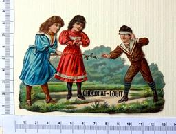 CHROMO  DECOUPIS.... CHOCOLAT LOUIT...ENFANTS ...JEUX.......COLIN-MAILLARD - Enfants