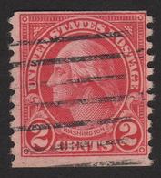 1929 US, 2c Stamp, George Washington, Used, Sc 599A, Type II, Rare - Vereinigte Staaten
