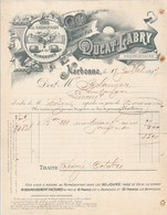 Facture Illustrée 17/7/1897 DUCAT LABRY Vins Narbonnais Minervois NARBONNE Aude à Belanger Lineuil - France