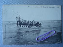 KNOKKE :  Lancement Du Bâteau De Sauvetage à La Mer   En 1906 - Knokke