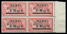 MEMEL 1922 Nr 64 Postfrisch VIERERBLOCK SRA X8879BA - Klaipeda