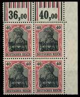 MEMEL 1920 GERMANIA Nr 6W OR Postfrisch VIERERBLOCK ECK X8879D6 - Klaipeda