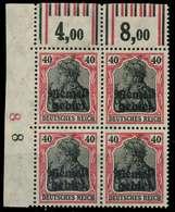 MEMEL 1920 GERMANIA Nr 6W OR Postfrisch VIERERBLOCK ECK X8879E6 - Klaipeda