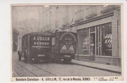 26649 Rennes 35 France 17 Rue Monnaie Bonneterie Charentaise Guillin - Ed Sans -camion Camionnette - Rennes