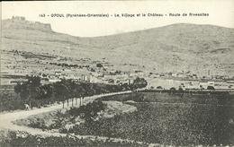 Opoul Le Village Et Le Chateau Route De Rivesaltes - Autres Communes
