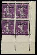 MEMEL 1922 Nr 62 Postfrisch VIERERBLOCK ECKE-URE X887B66 - Klaipeda