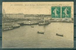 50 - CHERBOURG - Arsenal Maritime - Vue D'ensemble De L'Avant Port, Pont Glissant Et La Rade CHALOUPES - BATEAU A QUAI - Cherbourg