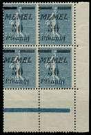 MEMEL 1922 Nr 61b Postfrisch VIERERBLOCK ECKE-URE X887BBA - Klaipeda