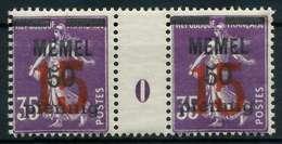 MEMEL 1921 Nr 48Ms-0 Postfrisch ZW-STEG PAAR X887C02 - Klaipeda
