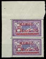 MEMEL 1922 Nr 65 Postfrisch SENKR PAAR ECKE-OLI X887C82 - Memelgebiet