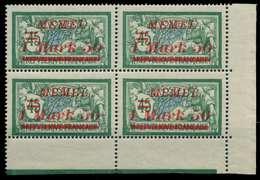 MEMEL 1922 Nr 66 Postfrisch VIERERBLOCK ECKE-URE X887CA2 - Klaipeda