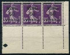MEMEL 1920 Nr 23a Postfrisch 3ER STR ECKE-URE X887DA6 - Memelgebiet