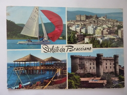 """Cartolina Viaggiata """"SALUTI DA BRACCIANO"""" 1973 - Altre Città"""