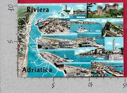 CARTOLINA VG ITALIA - RIVIERA ADRIATICA - Vedutine Multivue - 10 X 15 - ANN. 1969 - Non Classificati
