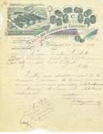 Lettre Superbement Illustrée De 1894 - LODELINSART -VERRERIES DE CHARLEROI -Spécialités De Verres Pour La Photographie - Bélgica