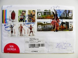 Cover Chile Registered 2018 Talca Selk'nam 10 Post Stamps - Chili