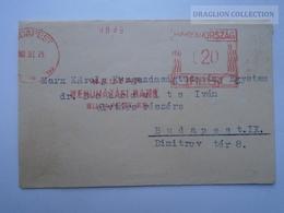 ZA165.3 Franking Machine / Meter Mark Cover -Hungary  Magyar Beruházási Bank 1962  -Dr Dobrovits Iván - Hungary