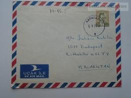 ZA165.4  Turkey Cover - Karacasu Cancel 1977 - 1921-... Republic