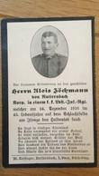 Sterbebild Wk1 Ww1 Bidprentje Avis Décès Deathcard KUK Landsturm IR ISONZO 24. Dezember 1916 Aus Natternbach - 1914-18