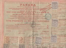 Panama Titre Au Porteur  1888  Avec Vignettes Et Timbres Fiscaux (PPP10121) - Actions & Titres