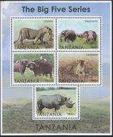Tanzania- The Big Five (Lioness,Elephants,Buffaloes,Leopard,etc) - Tanzanie (1964-...)