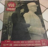 Point De Vue Images Du Monde N°24 Novembre 1948 Général Leclerc,Jean Anouilh,Leslie Caron,Jean Nohain,RPF Queuille - Books, Magazines, Comics