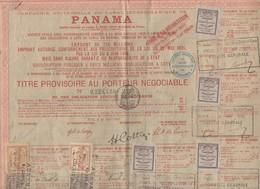 Panama Titre Au Porteur  1888  Avec Vignettes Et Timbres Fiscaux (PPP10123) - Actions & Titres