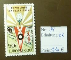 Centrafricaine Europafrique Europa  MiNr: 94  Postfrisch ** MNH     #4907 - Centrafricaine (République)