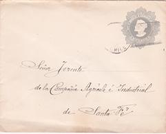 Entier Postal Stationery Enveloppe -  CHILI - Vers Santa Fé - Etat Moyen Voir Scan - Chili