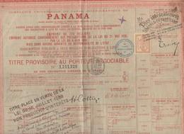 Panama Titre Au Porteur  1888  Avec Vignettes Et Timbres Fiscaux (PPP10125) - Actions & Titres
