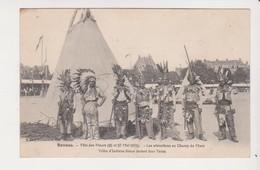 26654 Rennes 35 France Fete Fleurs 1912 Champ Mars  Indiens Sioux Tente -ed Mary Rousseliere - Rennes