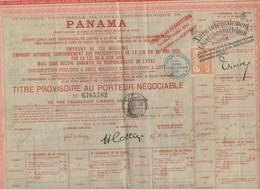 Panama Titre Au Porteur  1888  Avec Vignettes Et Timbres Fiscaux (PPP10126 - Actions & Titres