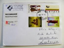 Cover Lithuania Registered Kaunas 1999 Atm Stamp 2,75 - Lituanie