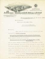 Brief 1938 STUTTGART-CANNSTATT - Fr. HESSER, MASCHINENFABRIL-AKTIENGESELLSCHAFT - Spezialfabrik Für Verpackunsmaschinen - Allemagne