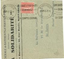 LOIRET - Dépt N° 45 = MONTARGIS 1932 = FLAMME KRAG 'CHEQUES POSTAUX / DEMANDEZ / Ligne Limée / UN COMPTE COURANT ' - Postmark Collection (Covers)
