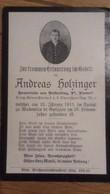 Sterbebild Wk1 Ww1 Bidprentje Avis Décès Deathcard KUK Alpenjäger Regt 3 WADOWICE Galizien Aus Volkerding Pöndorf - 1914-18