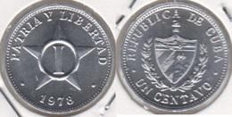 Cuba 1 Centavo 1978 (I - Patria Y Libertad) KM#33.1 - Used - Cuba
