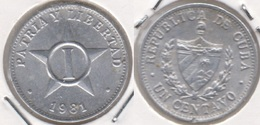 Cuba 1 Centavo 1981 (I - Patria Y Libertad) KM#33.1 - Used - Cuba