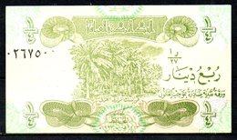 IRAK. Billet De 1/4 De Dinar. - Iraq