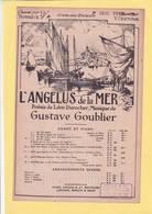 PARTITION  N° 24 /  L ANGELUS DE LA MER / POESIE DE LEON DUROCHER  / GUSTAVE GOUBLIER /CHANT ET PIANO / A ENCADRER / - Musique & Instruments
