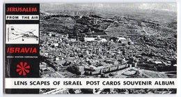 CARNET  DE 9 CARTES  16.5 X 9 CM   JERUSALEM FROM THE AIR    ISRAVIA - Israel