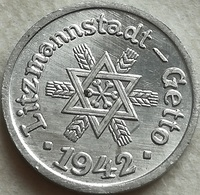 RÉPLICA Moneda Judía Getto De Lodz, Litzmannstadt, Polonia. 10 Pfenning. 1942. Rara - Polonia